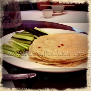 Pancakes Shallots and Cucumbers