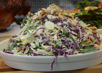 Cabbage and Walnut Apple Salad
