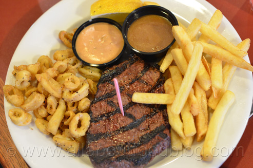 Steak with Salt & Pepper Calamari