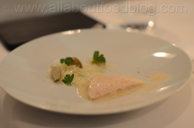 John Dory with Cabbage, Green Strawberries, Fish Milk and Roe