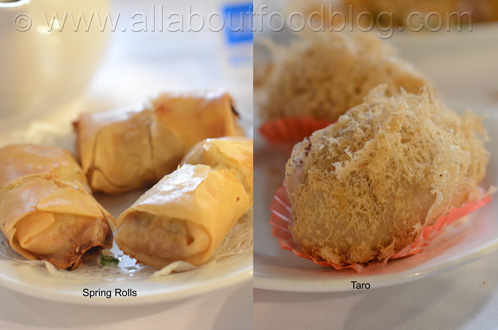 Spring Rolls and Taro Dumplings