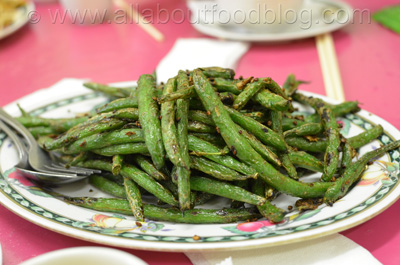 Braised Green Bean with Malaysian Chilli Sauce