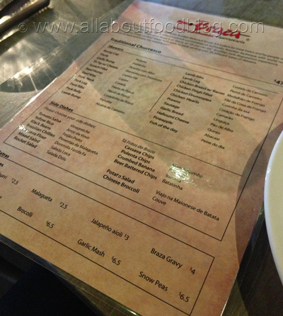 z94 Menu Braza Churrascaria