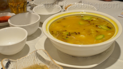 Superior Seafood in Thick Pumpkin Soup