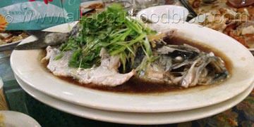 Steamed Barramundi with Ginger and Shallot