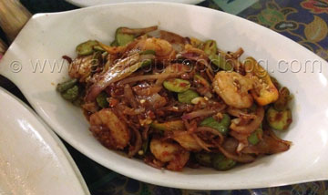 Sambal Prawns and Petai