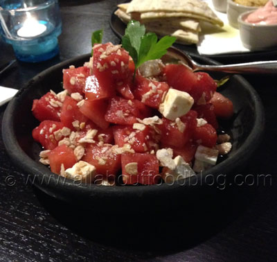 Watermelon and Manouri Salad