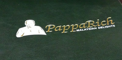 PappaRich Malaysian Delights Menu