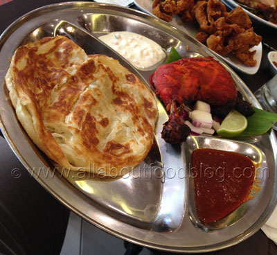 Roti Canai with Tandoori Chicken