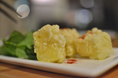 Camembert Tempura - Camembert cheese dipped in batter and deep-fried - $8