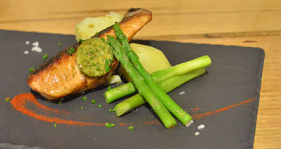 Sauteed Tasmanian Salmon with maitre d' butter with an accent of Japanese shiso - $15