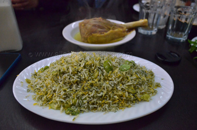 Baghali Polo from Darband Persian Restaurant