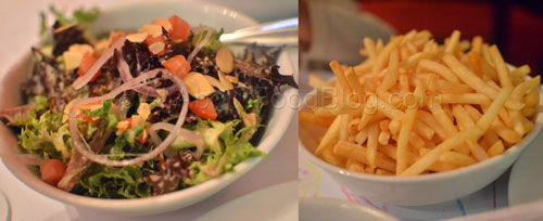 Salad and French Fries - side dishes
