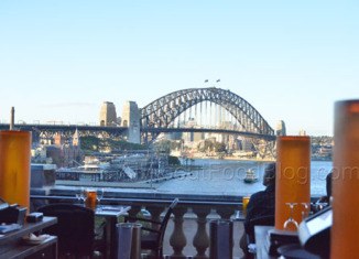 View from Cafe Sydney