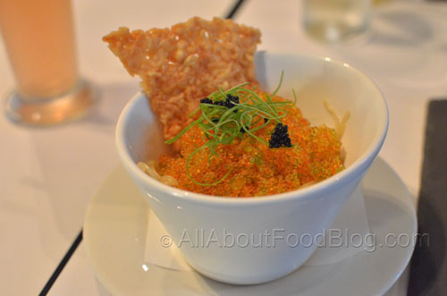 Kinoco Caviar Pasta – Angel Hair Pasta, Mushrooms, Tobico Caviar, Onion, Creamy Rice Wine Sauce