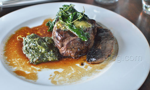 Beef tenderloin, roasted oyster mushroom, cavalo nero, creamed spinach - $39
