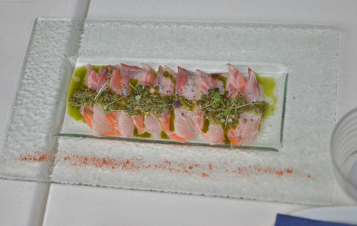 Salmon and Kingfish Carpaccio