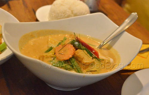 Vegetables and Tofu Panang Curry - $12.90