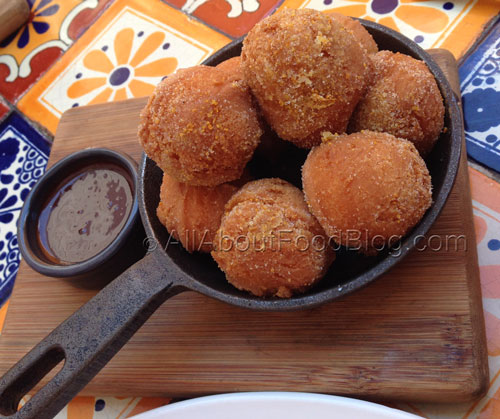 Bunuelos con chocolate – Mexican doughnuts & chocolate sauce - $12