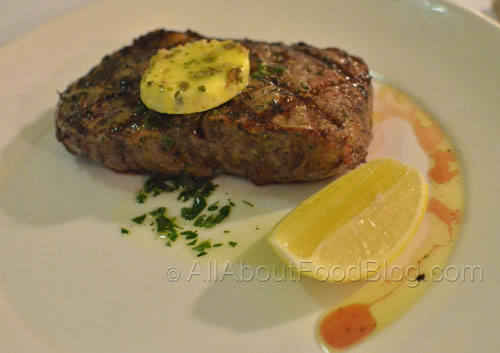 300gr Cape Grim grass fed sirloin with anchovy and parsley butter - $32