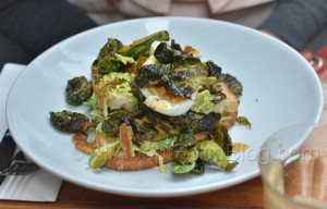 Brussel Sprouts, soft egg, Parmesan, Bacon & Anchovy – $15