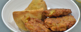 Samosa and Bhajia from Surjit's Indian