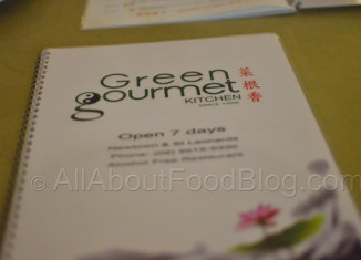 Green Gourmet Kitchen Menu
