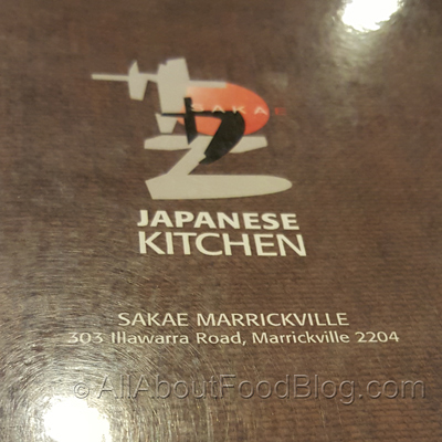 Sakae Japanese Kitchen Menu