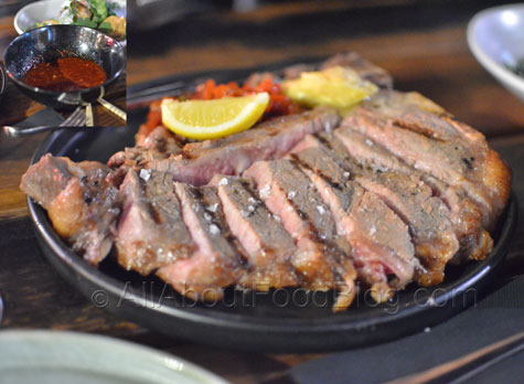 Akiba's Charcoal roasted T-bone, garlic soy butter, gochutgaru (800gr) - $38