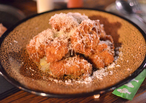 Japanese fried chicken, lemon braised onions, parmesan - $16