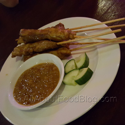 Chicken Satay - 6 Skewers - $14.80