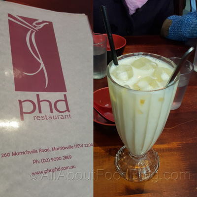 Milk and Soda with egg yolk from Pho phd