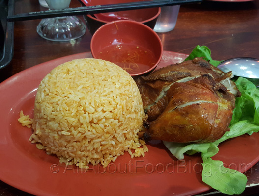 Crispy Skin Chicken with Tomato Rice - $13