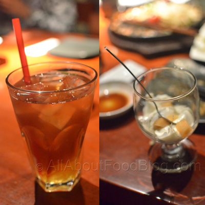 Yuzu Iced Tea – Rp 28k and Almond pudding – free