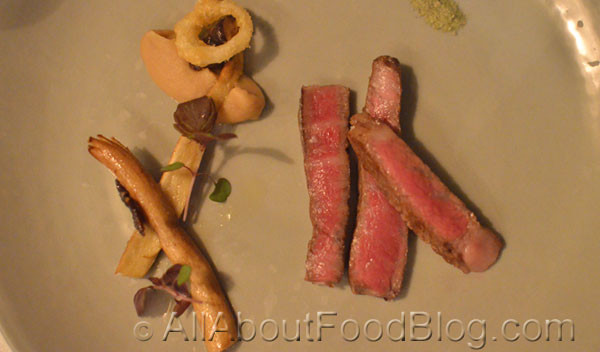 Master Kobe beef, roasted onion, nameko and miso - Woodland House