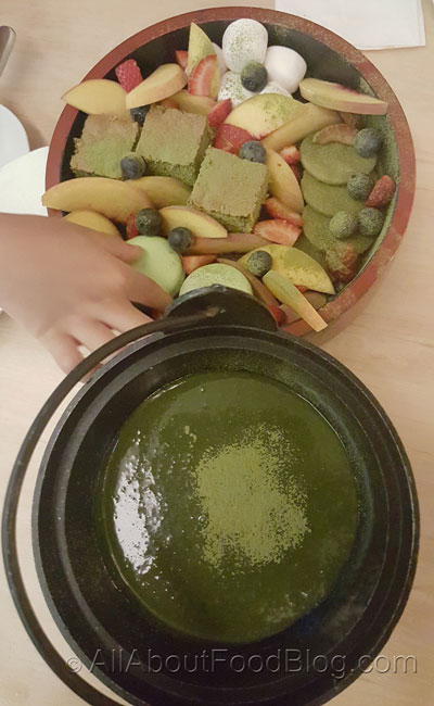 Matcha Fondue from One Tea Lounge