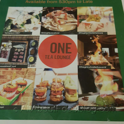 One Tea Lounge Menu