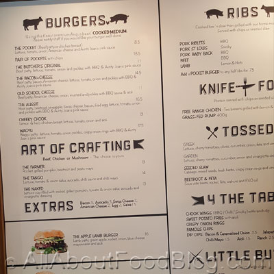 Ribs and Burgers Zetland Menu